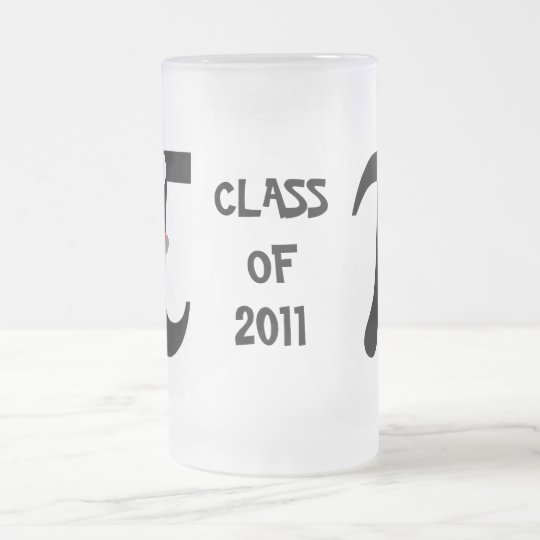 Smiling Pi Class of 2011 Frosted Glass Mug