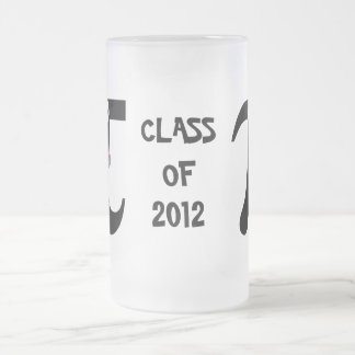 Smiling Pi Class of 2012 Frosted Glass Mug