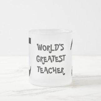 Smiling PI World's Greatest Teacher Glass Mug