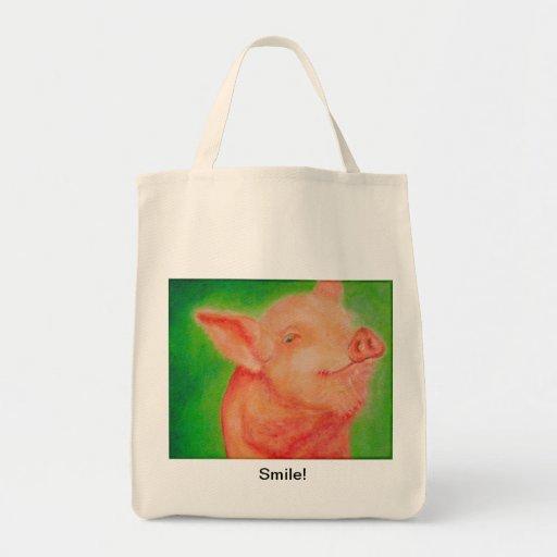 Smiling Pig Bag
