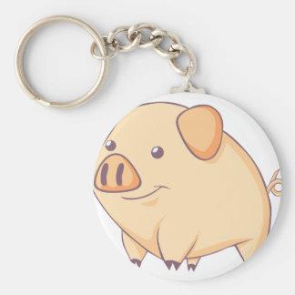 Smiling Pig Keychain
