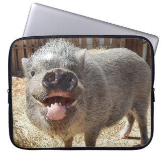 Smiling Pig Neoprene Laptop Sleeve 15 inch