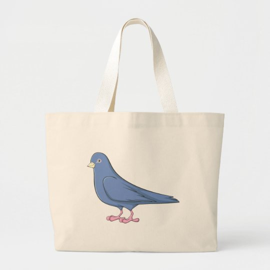 Smiling Pigeon Large Tote Bag