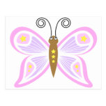 Smiling Pink Butterfly Post Cards