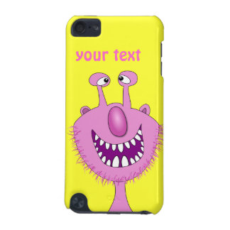 Smiling Pink Cute Monster With Beard iPod Touch (5th Generation) Case