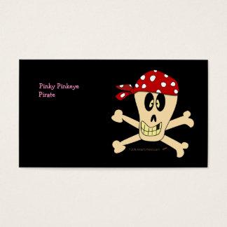 Smiling Pirate Skull and Cross Bones Business Card