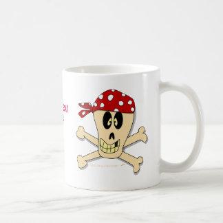 Smiling Pirate Skull and Cross Bones Classic White Coffee Mug