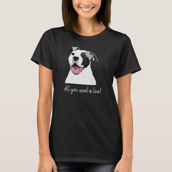 Smiling Pit Bull Dog T-Shirt