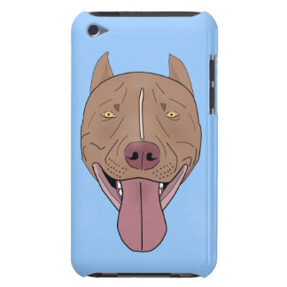 Smiling Pit Bull - Line Art Portrait Barely There iPod Case