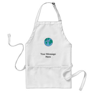 Smiling Planet Earth Apron