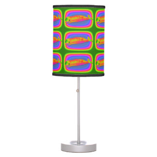 smiling pod of psychedelic whales table lamp