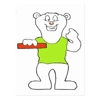 Smiling Polar Bear Postcard
