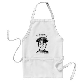 Smiling Policeman. Officer Humor Adult Apron