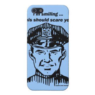 Smiling Policeman. Officer Humor Case For iPhone SE/5/5s