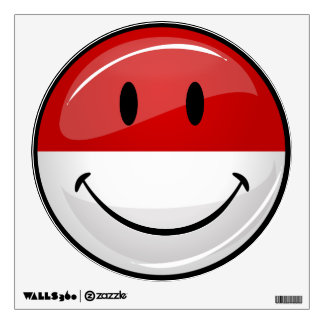 Smiling Polish Flag Room Sticker