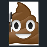 "Smiling Poop Emoji Dry Erase Board<br><div class=""desc"">One happy pile of poop</div>"