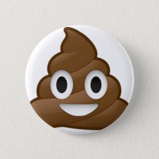 Smiling Poop Emoji Pinback Button