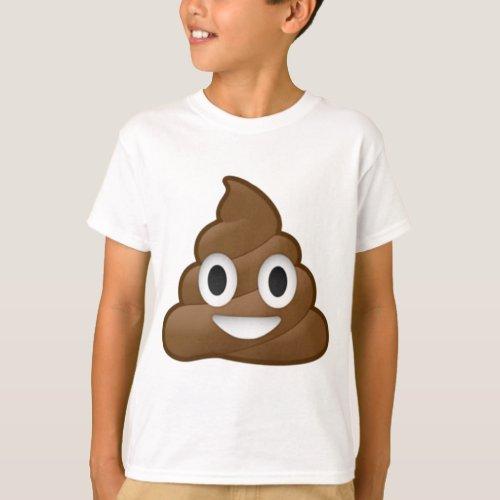 Smiling Poop Emoji T_Shirt