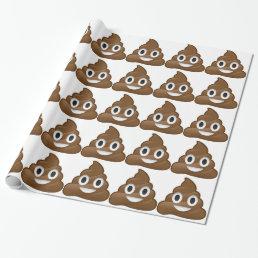 Smiling Poop Emoji Wrapping Paper