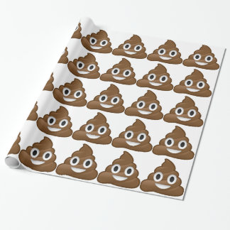 Smiling Poop Emoji Wrapping Paper