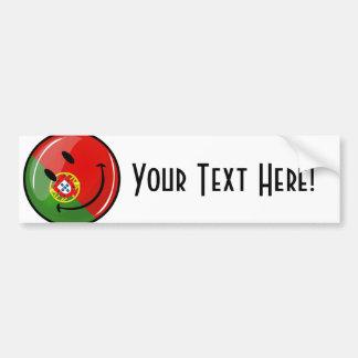 Smiling Portuguese Flag Bumper Sticker