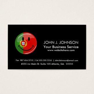 Smiling Portuguese Flag Business Card