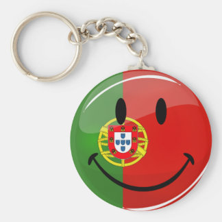Smiling Portuguese Flag Keychain