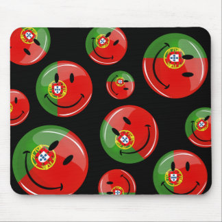 Smiling Portuguese Flag Mouse Pad