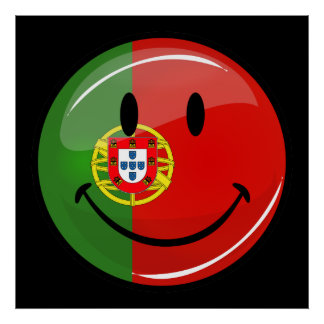 Smiling Portuguese Flag Poster
