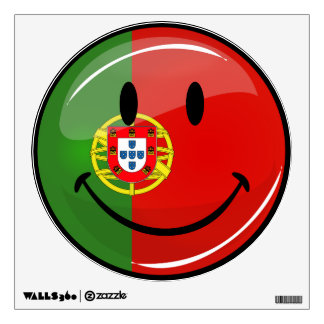 Smiling Portuguese Flag Wall Sticker