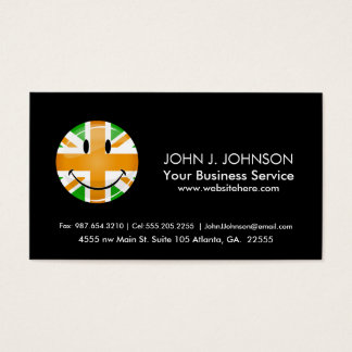 Smiling Proud Irish Brit Flag Business Card