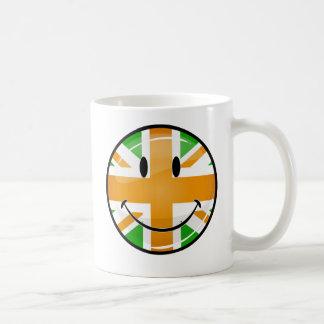 Smiling Proud Irish Brit Flag Coffee Mug