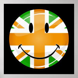 Smiling Proud Irish Brit Flag Poster
