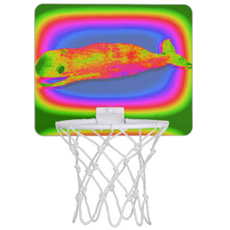 smiling psychedelic whale basketball goal mini basketball backboards