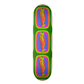 smiling psychedelic whales skateboard