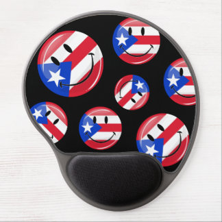 Smiling Puerto Rican Flag Gel Mouse Pad