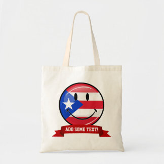 Smiling Puerto Rican Flag Tote Bag