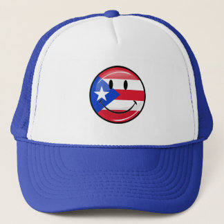 Smiling Puerto Rican Flag Trucker Hat