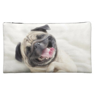 Smiling pug.Funny pug Cosmetic Bag