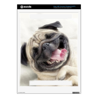 Smiling pug.Funny pug Decal For The Xbox 360
