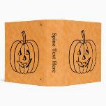 Smiling Pumpkin. 3 Ring Binder