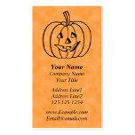 Smiling Pumpkin. Business Card Template