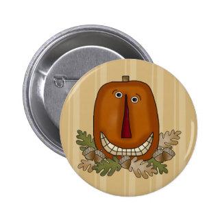 Smiling Pumpkin Button