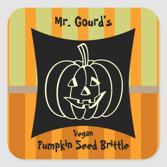 Smiling Pumpkin Canning and Baking Label