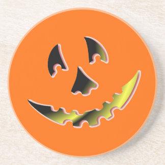 Smiling Pumpkin Face Coasters