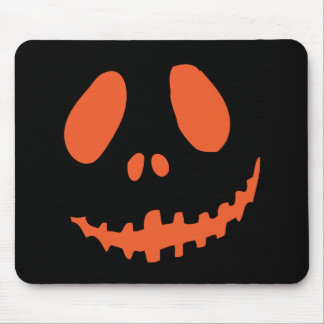 Smiling Pumpkin Face Mouse Pad
