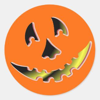Smiling Pumpkin Face Sticker