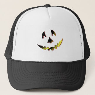 Smiling Pumpkin Face Trucker Hat