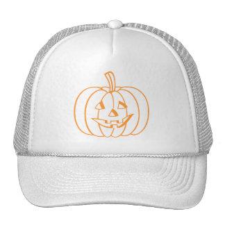 Smiling Pumpkin Mesh Hats