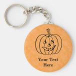 Smiling Pumpkin. Key Chain